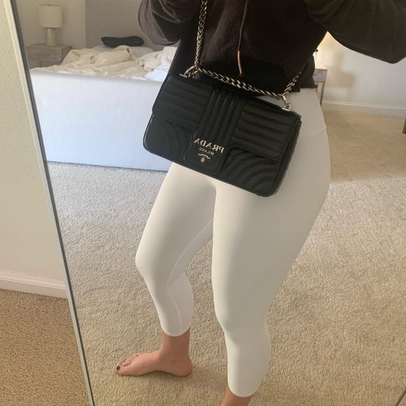 10acf4c0d3e2 Prada Bags | Diagramme Leather Shoulder Bag Black | Poshmark